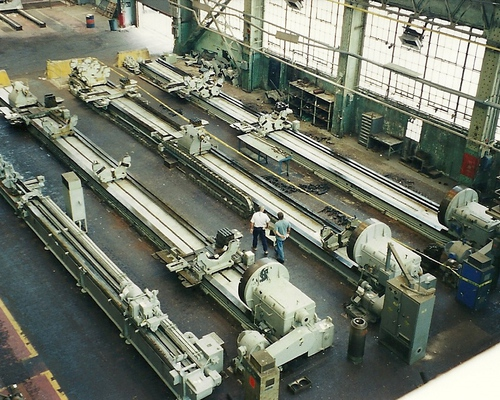 3 large lathes purchased from a shipyard