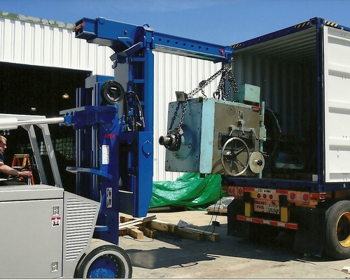 Loading a shipping container