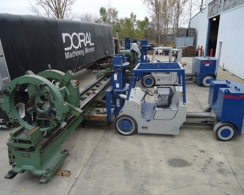 Unloading a 50x31 Monarch Engine Lathe